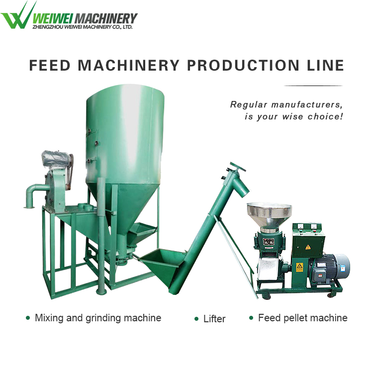 Weiwei feed making cheap price custom chick feed production line