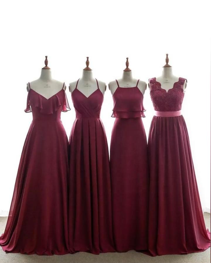 2020 New Sleeveless Bridesmaid Dresses Spaghetti  Strap Bridesmaid Dress Long