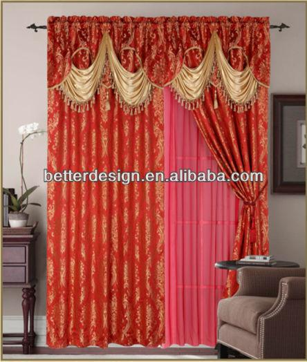 2PCS Jacquard Window Curtain Fabric India/Malaysia