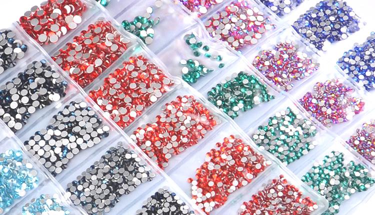 3D Kristallen Steentjes Niet Hot Fix Plaksteen Strass, SS4 SS5 SS6 SS8 SS10 SS12 Mix Size Diy Nail Art Strass