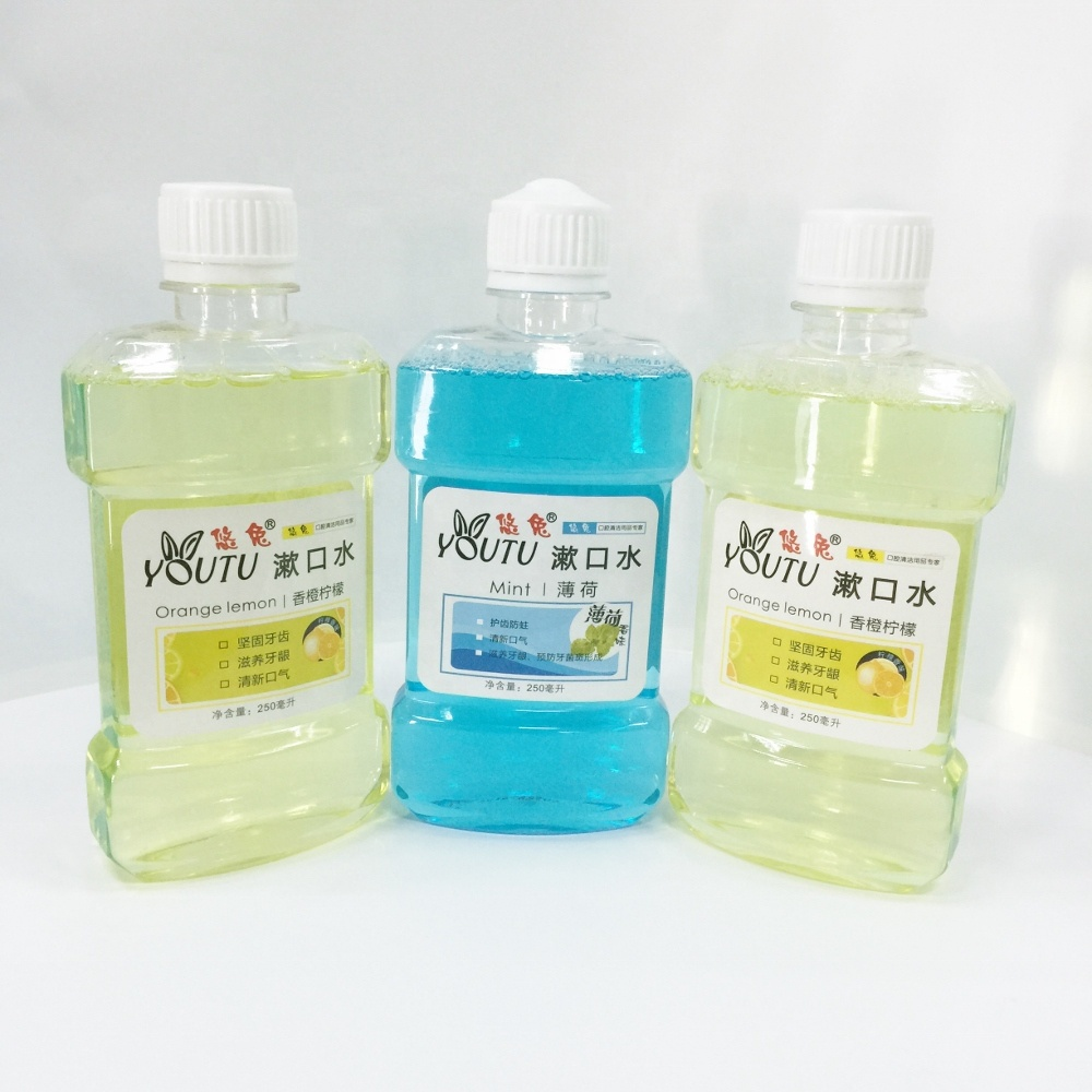 China new product listerine lemon 250ml dental clinic mouthwash