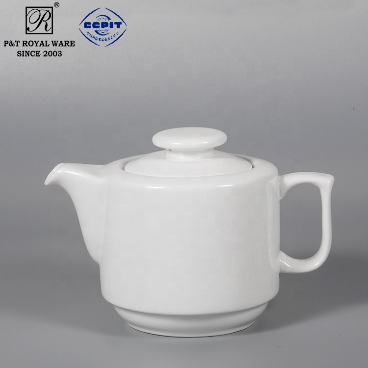 manufacturer white Catering ceramic tea pot