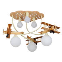 Creative super designed log aircraft kids room light for boy's bedroom or kindergarden's room