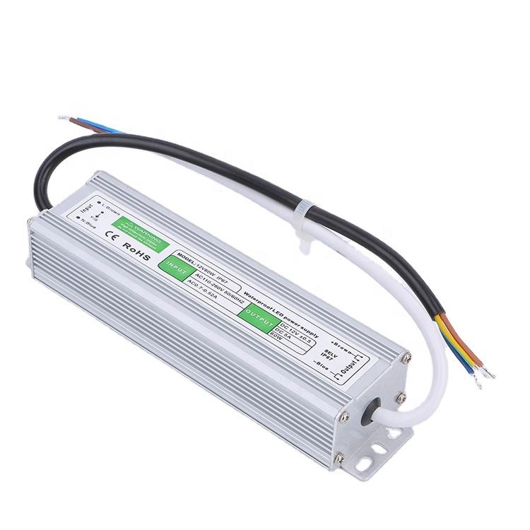 OEM IP67 waterproof power supply 12V/10W 20W 25W 30W 36W 50W 60W 80W 100W 120W 150W 250W transformer water-resistant LED Driver