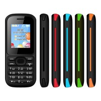 GSM 2G Feature Cellular Mobile Bar Phone Handphone Handset Cellphone Telephone Phones with Basic 1.77 Inch Screen and Dual SIM