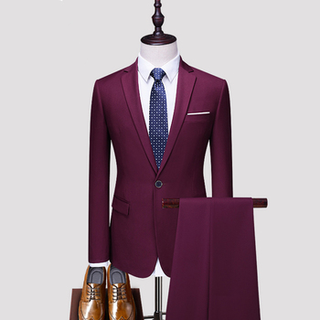Fast delivery low MOQ 3 pieces TR solid formal cheap men wedding suits,party male suits,wedding men's suits