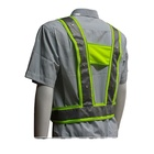 New products 2020 safety protection hi vis reflective led vest flashing led safety vest