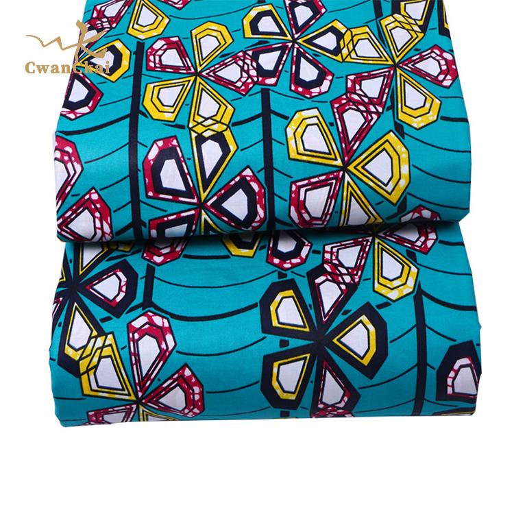 Горячая Распродажа, настоящая 100% хлопковая африканская восковая ткань с принтами, с самой низкой ценой, ткань-withe ankara, африканская восковая ткань с принтом