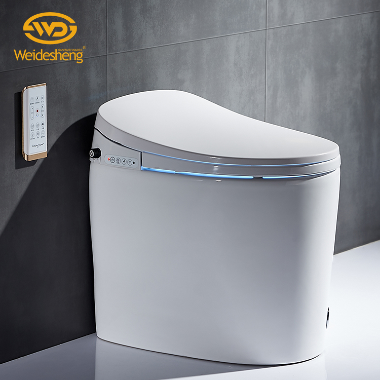 Bathroom Intelligent Electronic Temperature Control Bidet Toilet Seat Automatic Self-Cleaning Smart Toilet