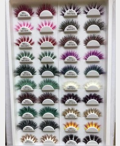 Colored Eyelashes Wholesale Vendor Custom Eyelash Packaging Box 3d Mink Eyelashes 100 Real For Christmas