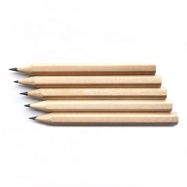 Promotional Small Raw Wood Graphite HB Pencil for Children