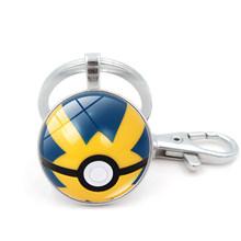 Игра Pokemon Go Poke Ball брелок для косплея аксессуары металлическая цепочка для ключей покемон(Китай)