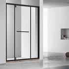 aluminum framed triple glass screen folding shower door 3 pieces sliding extend shower panels