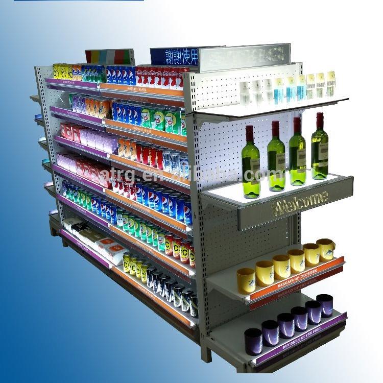 supermarket convenient shop Pharmacy floor stand display Patented design LED shelf advertising light