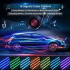 Support Dimmer Car Led Light Strip 4PCS 12 LED Multicolor Music Interior Atmosphere Lights Car Led Strips