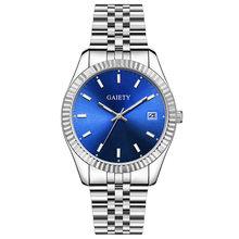 Модные мужские часы, серебро 2019, Лидирующий бренд, роскошные мужские кварцевые часы, мужские водонепроницаемые часы из нержавеющей стали, м...(Китай)