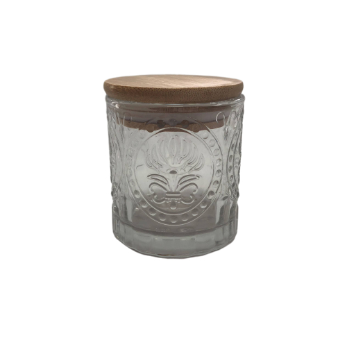 Ready stock Empty Glass Candle Jar With Lid