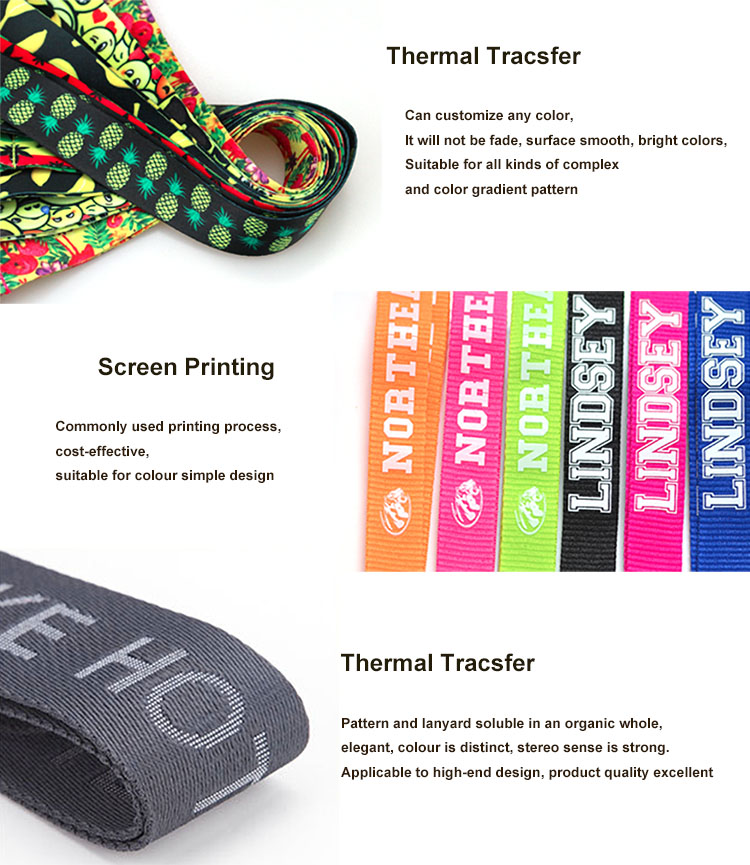 Make your own promotion custom logo card holder heat press blank sublimation personalized lanyards