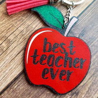 Teacher's Day Lovely Sweet Gift Acrylic Keychain - Apple Keyring - Special Present for Your Teacher