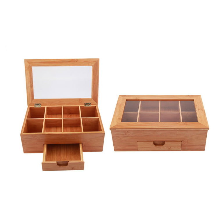 Factory Direct Wholesale Wooden Bamboo Tea Storage Box 9