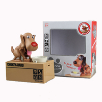 2019 New Arrival lucky dog shaped coin bank money box pooping dog piggy bank