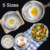 0.5mm Thickness finger bowl stainless with lid Silicone Bottom Stainless Steel Mixing Bowl Set with Handle and Grater ss bowl