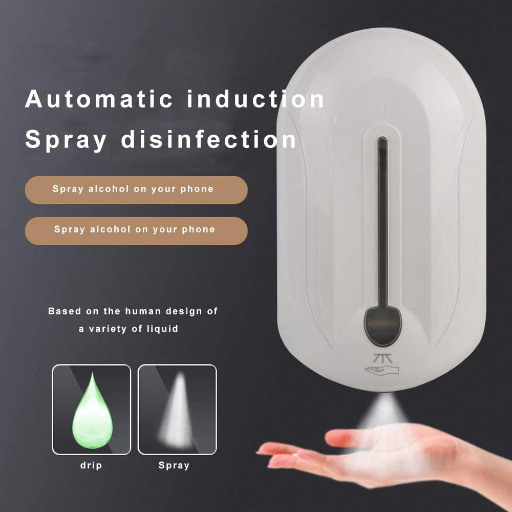 1100ml High Quality Touchless ABS Plastic Touch Free Drip Spray Hand Sanitizer Automatic Liquid Soap Dispenser