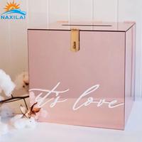 NAXILAI custom acrylic wedding card box amazing wedding card box acrylic and pretty acrylic card box wedding