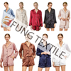 Fung 6002 Made in China High quality and low price satin pyjamas shirt