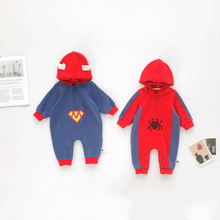 Lente Herfst Winter <span class=keywords><strong>Baby</strong></span> Rompertjes Fashion design <span class=keywords><strong>Superman</strong></span> Spider-Man <span class=keywords><strong>Baby</strong></span> Jongens kostuum Jumpsuits Pasgeboren <span class=keywords><strong>Baby</strong></span> <span class=keywords><strong>Superman</strong></span> Romper