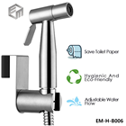 Set Bidet Sprayer Set Stainless Steel Bidet Sprayer Set With Hanger Toilet Sprayer Bidet Sprayer Chrome Finish Brush Nickel