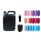 Custom Top quality natural long lasting bright uv gel korea lacquer nail polish exporters 3 in 1 color Gel