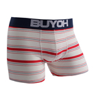 Comfortable organic cotton high quality striped underwear boxers for men