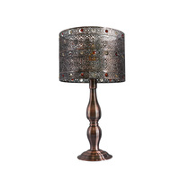 Industrial night bedroom iron shade e27 table lamp for home decor