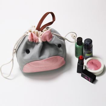 Custom Small Drawstring Make Up Bag Canvas Draw string Pouch