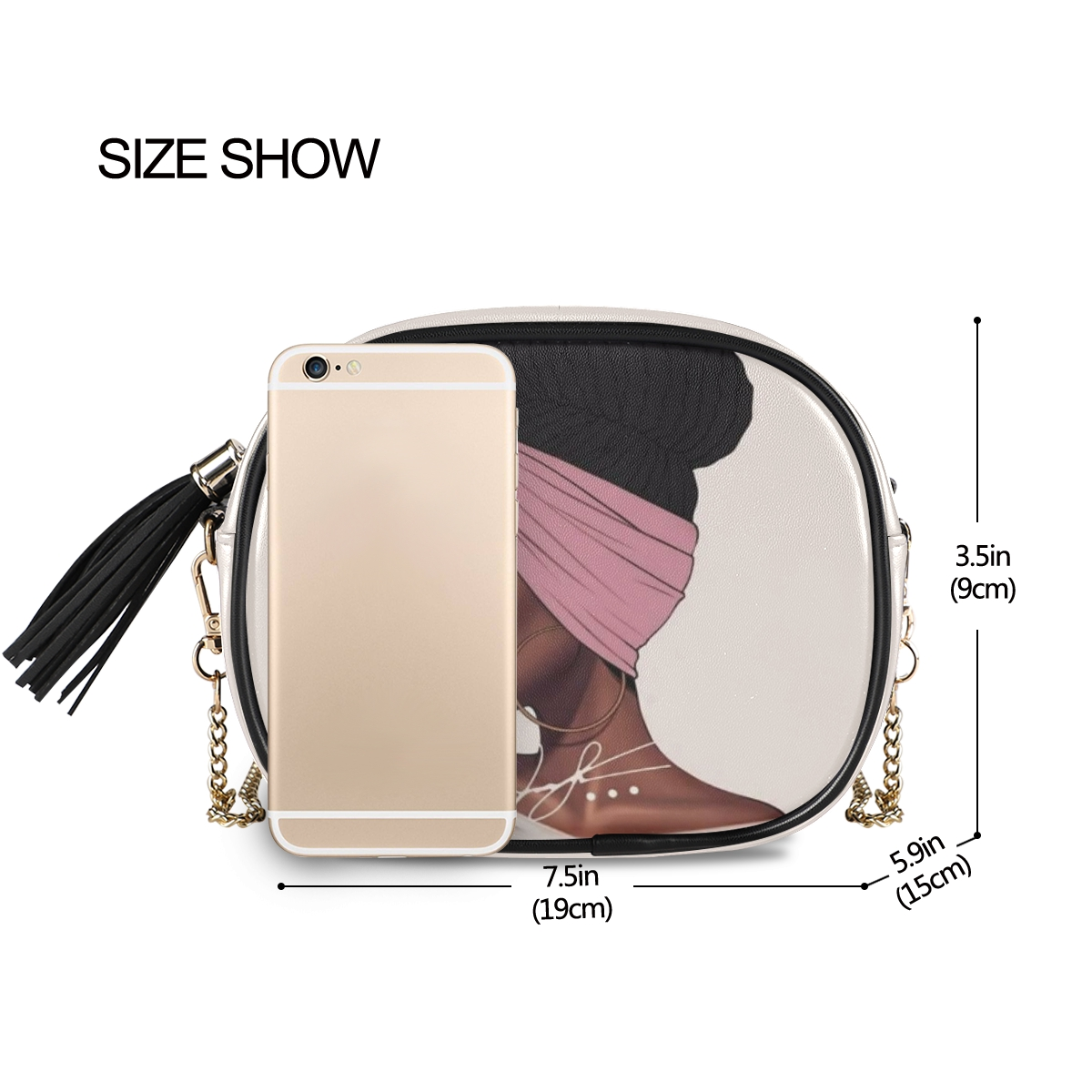 product-New Shoulder crossbody bag women bags 2020 PU Leather Chain bags Afro Girls black Women Mess