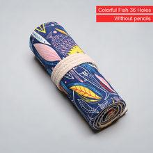 Цветной чехол-карандаш с 12/24/36/48/72 отверстиями, Холщовая Сумка для ручек, милая коробка для карандашей чехол, коробка для художественных руче...(Китай)