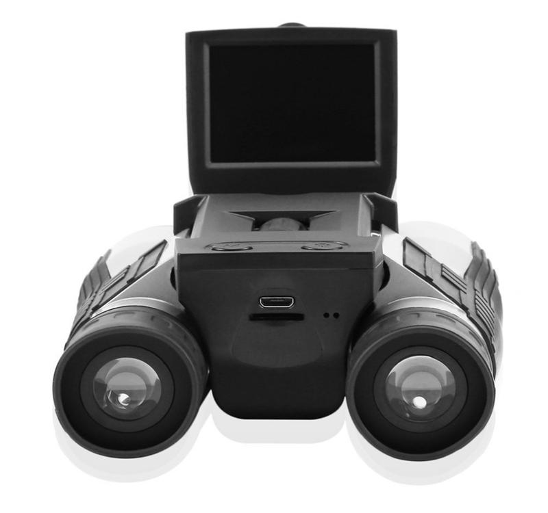 "12x32 HD Black Binoculars Telescope Full HD 1080P Digital Camera 2.0"" LCD Folding with Built-in Digital Camera"