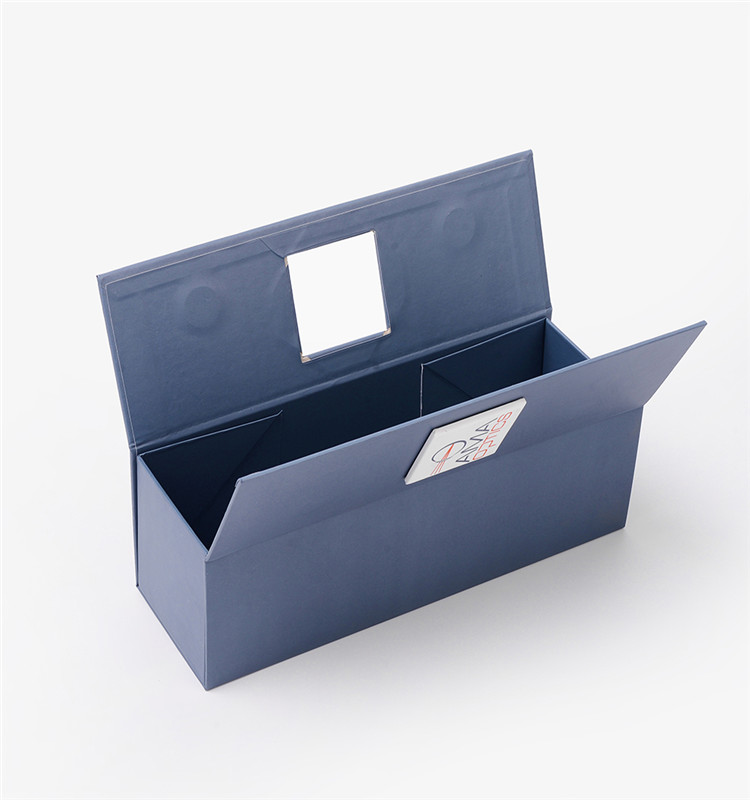 Fashion New Design Cardboard Folding Style Custom Luxury Blue Magnetic Gift Packaging Box For Wine