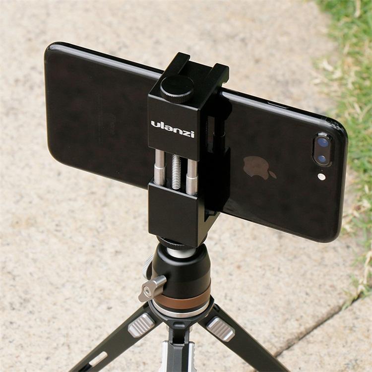 Ulanzi ST-02 Mobile Phone Tripod Mount Hot Shoe Compatible Aputure AL-M9/Boya BY-MM1 Microphone for Youtube Vlog Video Maker