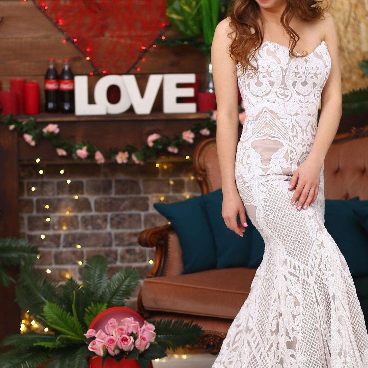 PEV-L3036 customized real sweetheart strapless sequined bridal gown mermaid wedding dress 2021