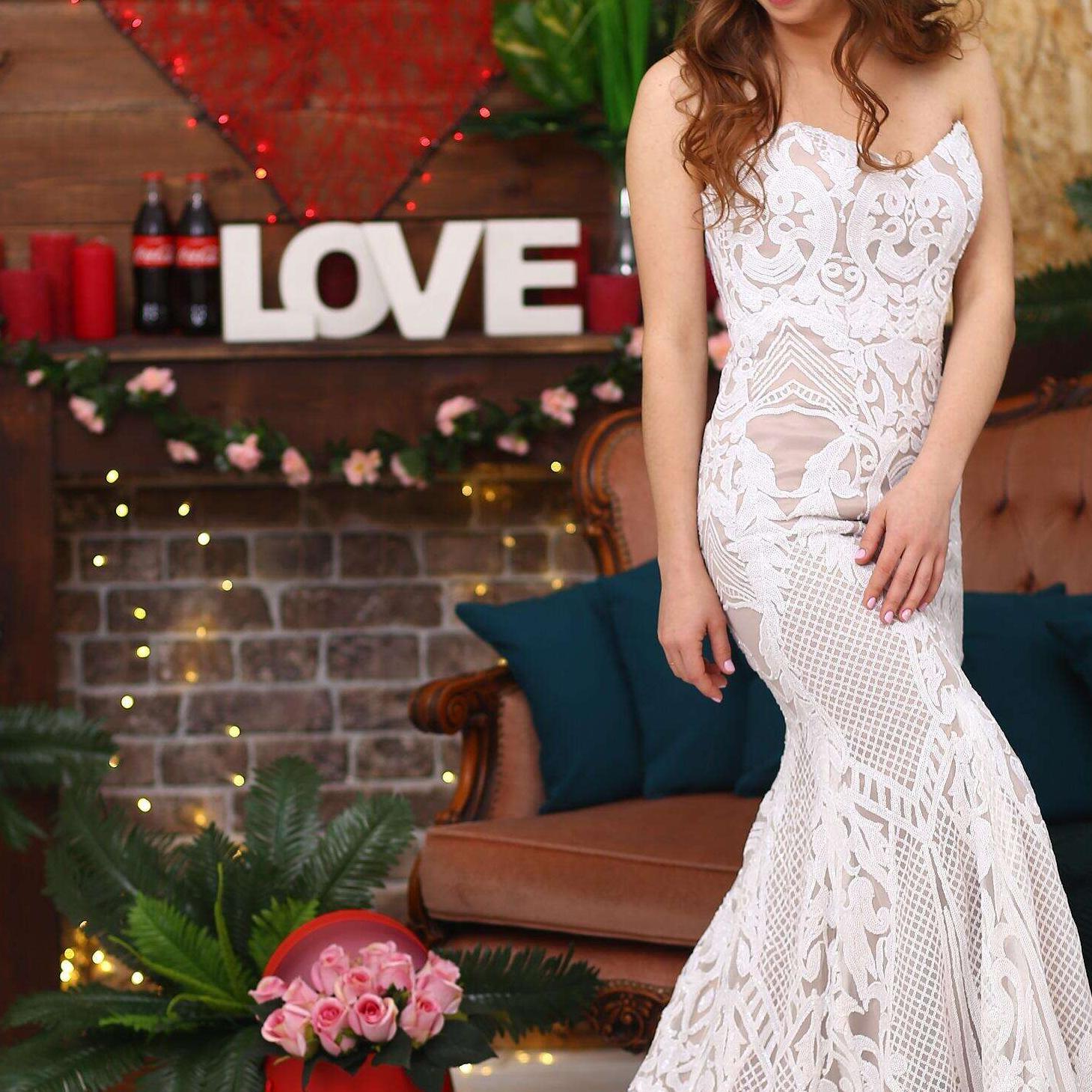 PEV-L3036カスタマイズされた本物の恋人ストラップレススパンコールブライダルガウンマーメイドウェディングドレス2021