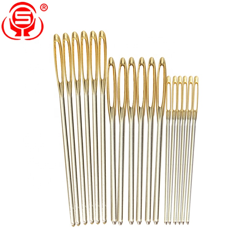 Best-selling Big Eye Hand Sewing Needles Assorted Size Stainless Steel Large-Eye Blunt Embroidery Sewing Needles