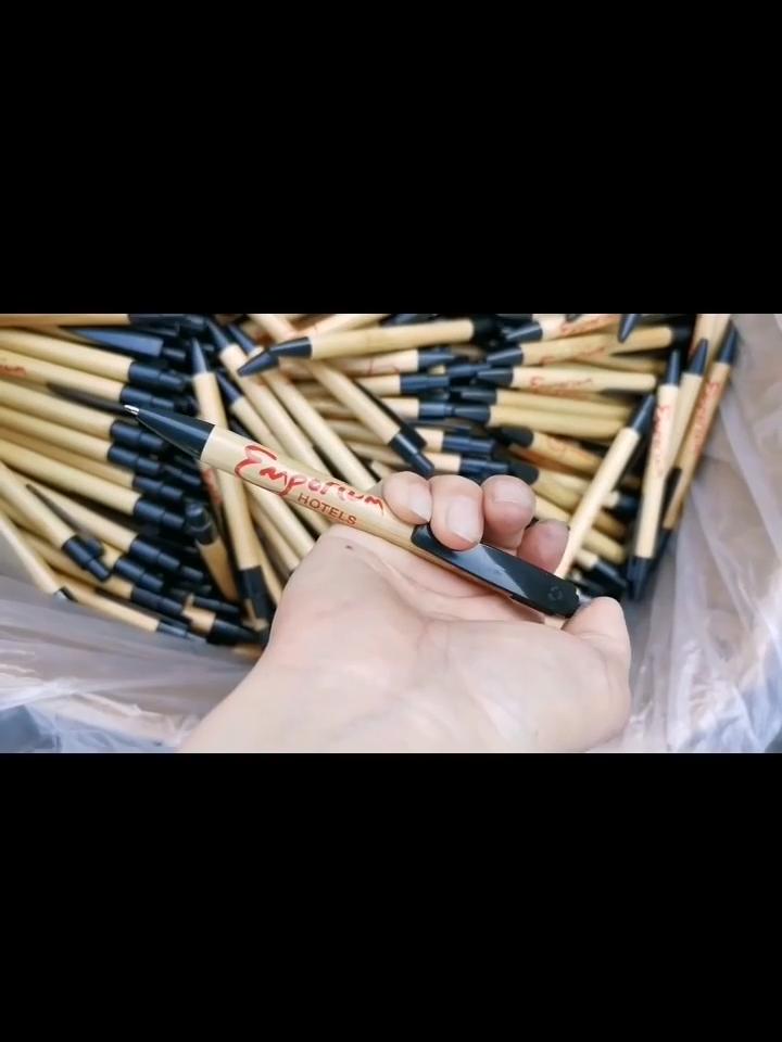 Stationery Gel Pen Office Supplies Bamboo Pen Set Ballpoint Pen Custom
