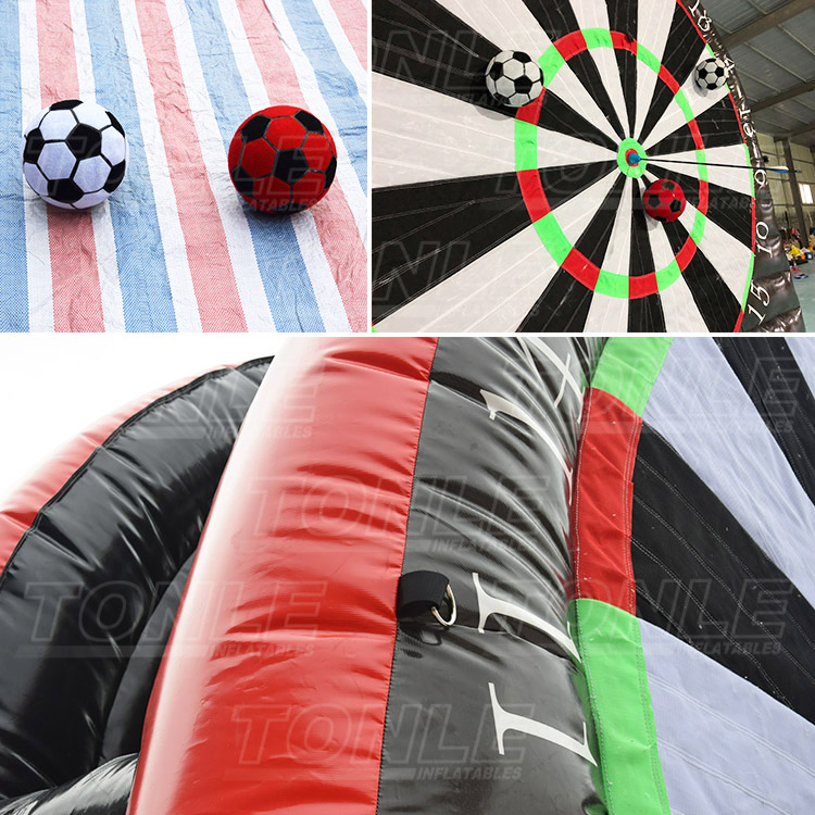 Inflatable soccer ball dartboard toss/ football dartboard game/ foot dart game for sport