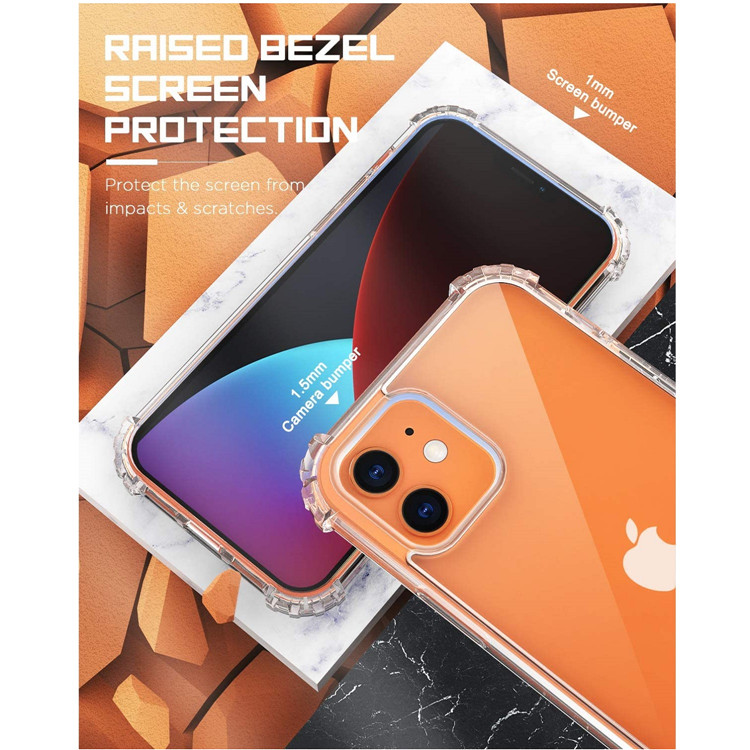 MoKo Anti-Yellow Shockproof Transparent Clear TPU Phone Case for iPhone 12 Mini 5.4 Inch 2020