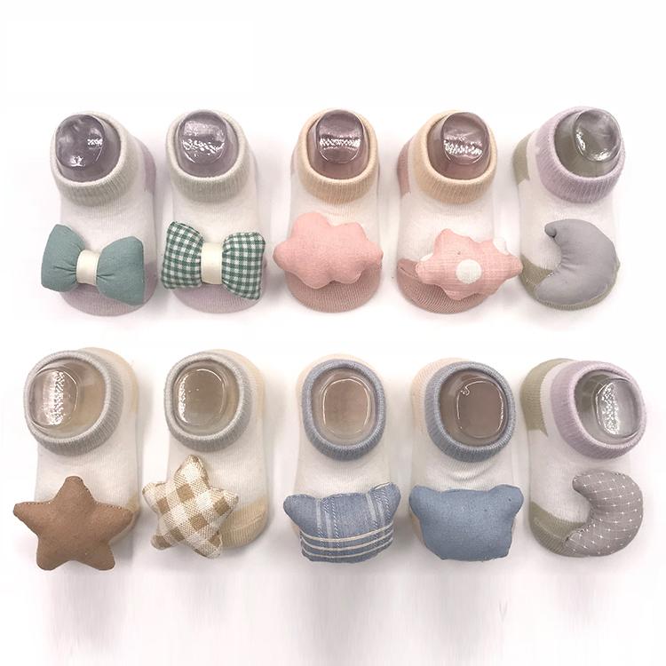 Sevimli bebek silikon bebek çorap kaymaz, bebek sevimli çorap Anti kayma