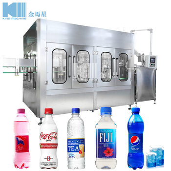 Soft Drink Filling Machine / 3 In 1 Unit Carbonated Water Production Plant