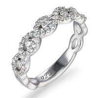 SR00381 Kenturay Trending Hot Products Custom Design Fashionable Jewelry 925 Silver Cz Rings