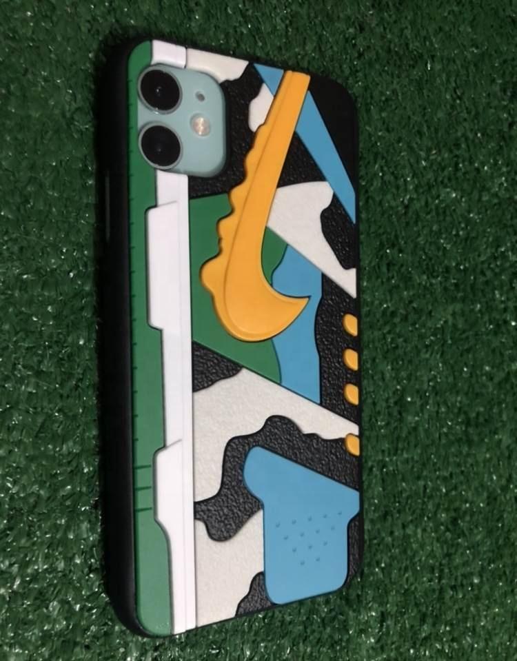 Moda Silicone 3D Air Jordan Calçados Esportivos AJ11 venda quente Tênis de Basquete DA NBA Casos de Telefone Capa para o iphone 7 8 plus12 pro